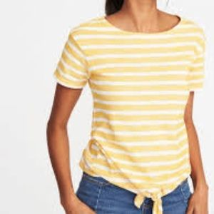 Old Navy Yellow Striped T-shirt